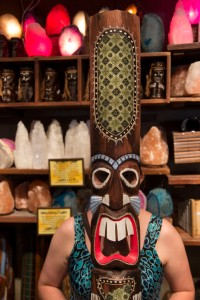 A mask for sale at the Rainforest Cafe